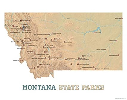 Amazon.com: Best Maps Ever Montana State Parks Map 11x14 ...