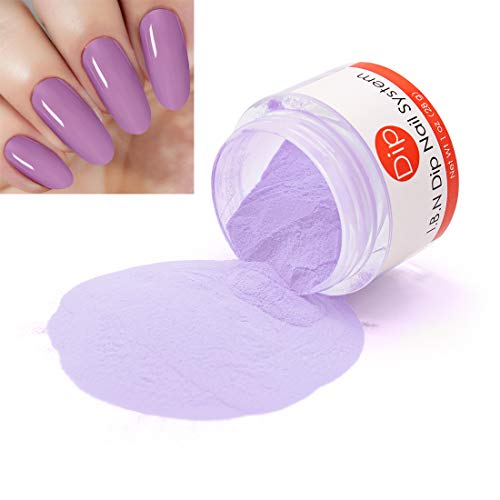 Purple Nail Dipping Powder (added vitamin) I.B.N Acrylic Dip Powder Colors, 1 Ounce/28g, No Need Nail Dryer Lamp Cured (DIP 019)