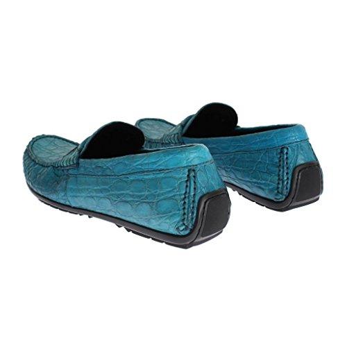 b5a0fd5611e Dolce   Gabbana Blue Crocodile Mens Loafers Slip Ons Shoes  Amazon.co.uk   Clothing