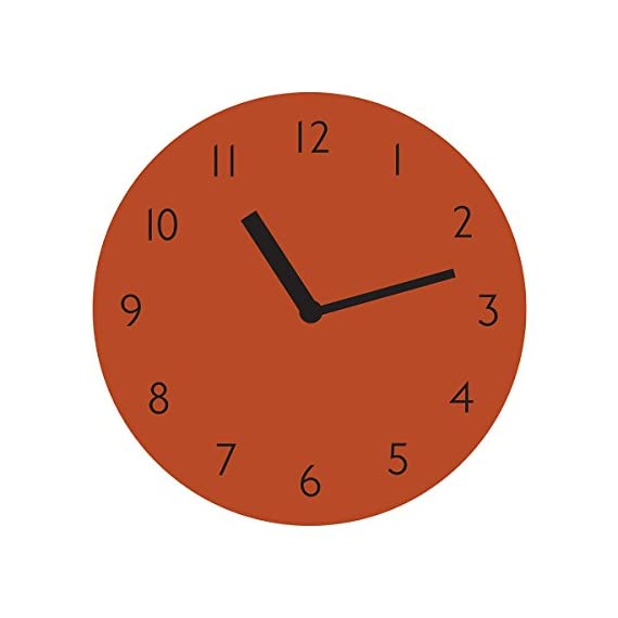 "THEHAKI Sandwich Clock 9"" Retro Color Silent Quartz Non-ticking Simple Light Colorful Wall Clock (Orange) - Material: Artificial Leather(PU), Paper, EVA Size:9.1""Dia x 0.8""Deep Very light(0.4lb) and safe sandwich style clock - wall-clocks, living-room-decor, living-room - 41nLGHC3SRL. SS570  -"