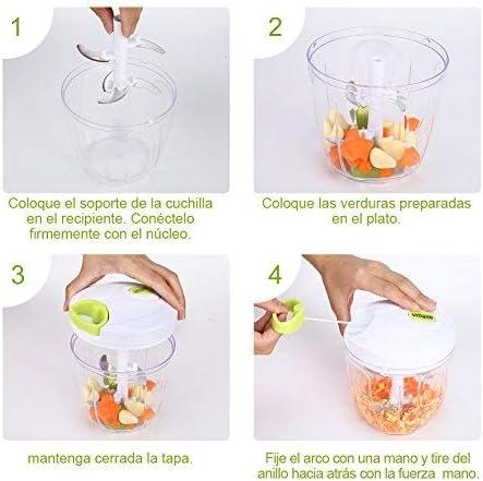 Sedhoom Cortador de Verduras Picadora de Verduras Manual,5 ...