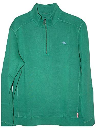 Tommy Bahama Men's Antigua Half Zip Sweatshirt Gumdrop Green Sweatshirt 2XL