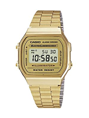 Casio Dress Digital Mens Watch A168WG9 by Casio