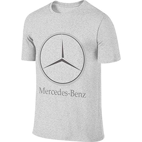 LinGing Man Personalized Comfortable Top Mercedes Benz Logo Tshirts Gray