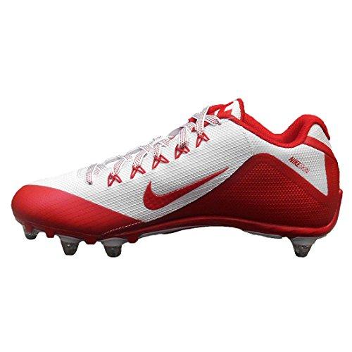 Nike Menns Alfa Pro 2 Avtakbar Fotball Cleats Rød / Hvit