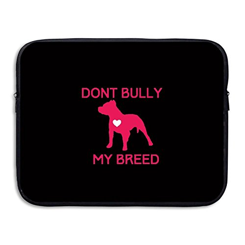 Anyiquliq Don't Bully My Breed 13&15 Inch Large Capacity Fashionable Computer Bladder Bag Laptop - Near Eyeglasses Me Fix