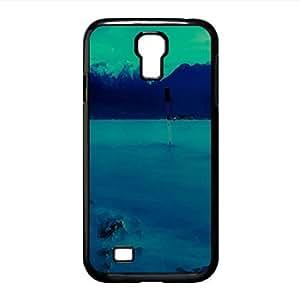 Lake At Night Watercolor style Cover Samsung Galaxy S4 I9500 Case (Lakes Watercolor style Cover Samsung Galaxy S4 I9500 Case)