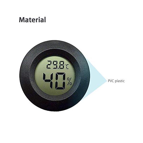 Thlevel 3PCS Mini LCD Digitale Termometro Igrometro Temperatura Umidità Misuratore 5
