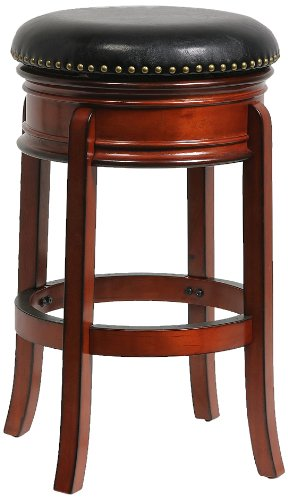 Boraam 43229 Hamilton Bar Height Swivel Stool, 29-Inch, Brandy (Traditional Round Table Bar)