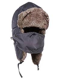 Binse Unisex Winter Trapper Hat Ear Flap Warm Bomber Hats Ski Hat Cap
