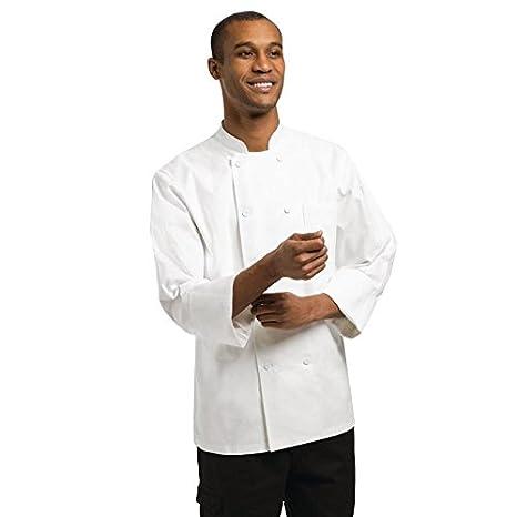 White Chef Works PCSS Unisex Volnay Basic Chef Coat