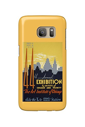 Chicago, Illinois Poster - Art Exposition of 1940 (Galaxy S7 Cell Phone Case, Slim Barely - Chicago 1940