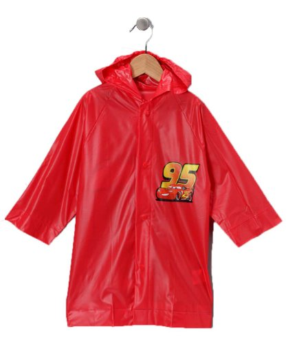 Disney Pixar Cars Lightning Mcqueen Boy's Red Rain Slicker - Toddler Sizes