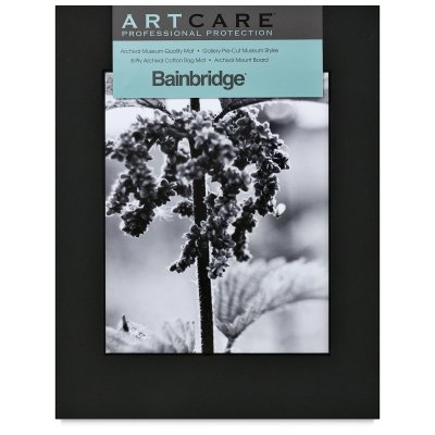 "Nielsen Bainbridge PRE-Cut Center 11""X14"" ARTCARE Black Photo MAT W/ 8""X10"" Opening, 10 Piece"