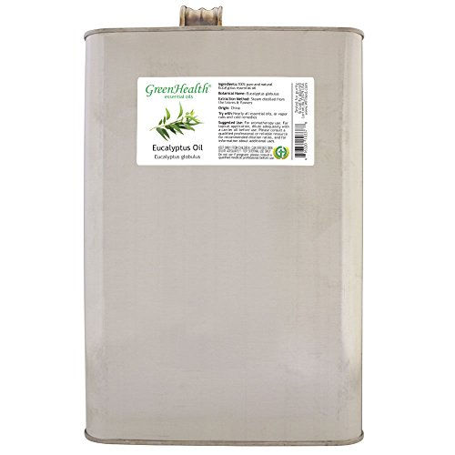1 Gallon Eucalyptus Essential Oil (100% Pure & Uncut), Metal Container - GreenHealth by Greenals