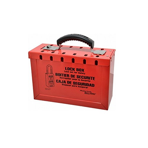 Master Lock 498A Safety Series Steel Group Lock Box, 9 1/4'' Large, Red