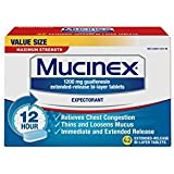 Mucinex SE 12 Hr Max Strength Chest Congestion Expectorant Tablets, 42ct - Pack of 3