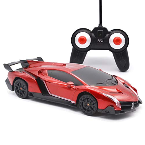(Remote Control Car-LAFALA Electric RC Car-Lamborghini Veneno Radio Remote Control Vehicle Sport Racing Hobby Grade Licensed Model Car 1:24 Scale for Kids Adults (Red))