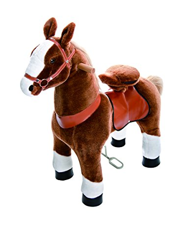 e Chocolate, Light Brown, or Brown Horse Riding Toy: 2 Sizes:  World's First Simulated Riding Toy for Kids Age 3-5 Years Ponycycle Ride-on Small ()