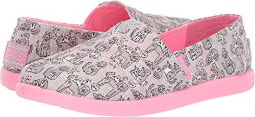 (Skechers Kids Girls' SOLESTICE 2.0-Friends Fur-EVE Sneaker Grey/Pink 3.5 Medium US Big Kid)