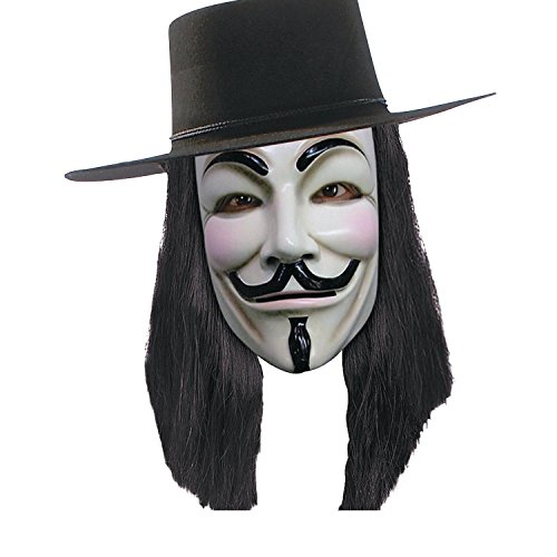 Bargain World Adult's V for Vendetta Wig (With Sticky (Guy Fawkes Complete Costume)