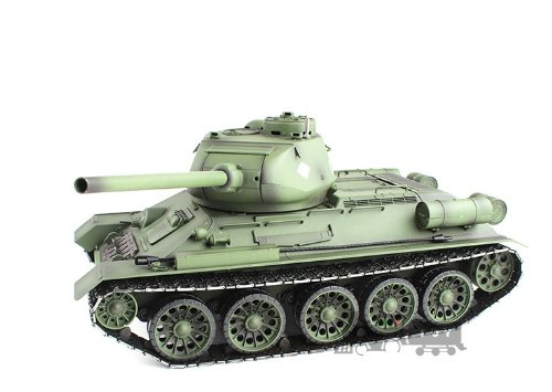 2.4Ghz Radio Control 1/16 Russian T-34/85 Air Soft RC Battle Tank Smoke & Sound (Upgrade Version w/ Metal Gear & Tracks)