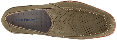 Hush Puppies Mens Lorens Jester Slip-on Loafer Oliv Nubuck