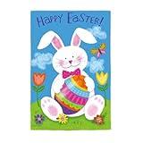 "Easter Bunny Garden Flag Size: 18"" H x 12.5"" W"