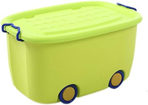 Caja de almacenamiento YLLXX Extra Grande Dibujos Animados Niños Ropa De Plástico Cesta De Almacenamiento De Juguete Banda De Bebé Rueda (47.5 * 31.5 * 27 Cm): Amazon.es: Hogar
