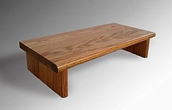 Monitor Stand OSTGO18 4 Oak Golden Oak 18 X 11.25 X 4.88 TV Wood Shelf