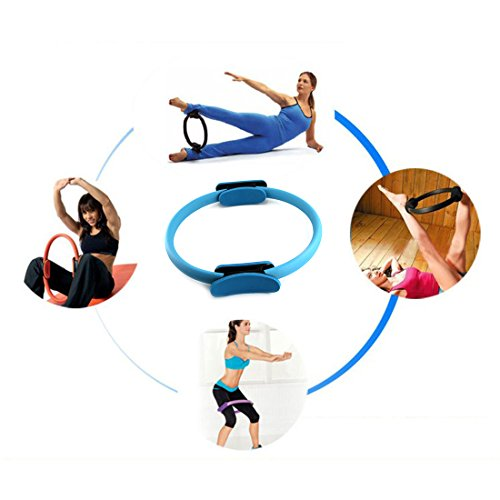 14inch Dual Grip Handles Pilates Ring Variable Resistance for Yoga Fitness Training Full Body Toning Fitness Circle