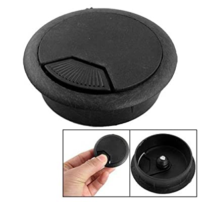 Uxcell a11010600ux0499 Home Office Desk Table Computer Grommet Cable Wire Hole Cover Black