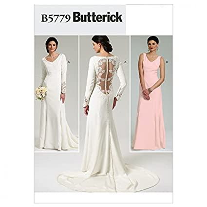 Amazon Butterick Ladies Sewing Pattern 5779 Backless Wedding