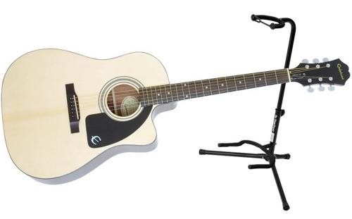 epiphone aj 100ce acoustic electric guitar w stand package buy online in uae products in. Black Bedroom Furniture Sets. Home Design Ideas