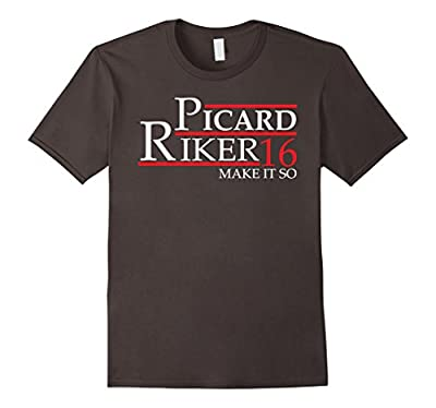 Captain Picard William Riker Funny President 2016 T-shirt