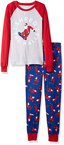 Christmas Pjs For Kids (The Children's Place Big Boys' Christmas Pajama Set, H/T Mist 92218,)