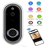 Video Doorbell,KOBWA Wireless Video Doorbell 720 P HD WiFi Security Camera, Real-Time Two-Way