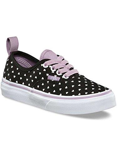 Vans Kids Authentic Canvas Zapatos Micro Corazón Mar Negro Niebla