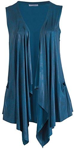 Veste Femme Bleu Pétrole Magna Manche Manteau Sans qwSwtA1