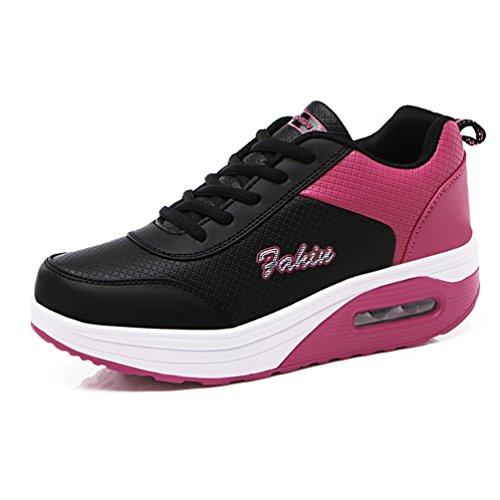 婦人靴 スニーカー スポーツシューズ ウォーキング エアクッション ランニング クッション性 カジュアルシューズ 軽量 アウトドア 柔らかい ファッション 黒 通気性 走れる 運動靴 22.5CM-25.0CM