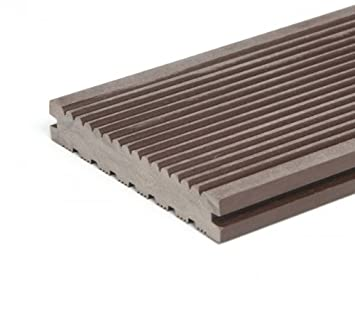 WPC Terrassendielen Premium Volldiele   Haselnussbraun Terrassen Holz