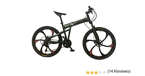 Helliot Bikes Hummer 02 Bicicleta de montaña Plegable, Adultos Unisex, Verde Militar, M-L: Amazon.es: Deportes y aire libre