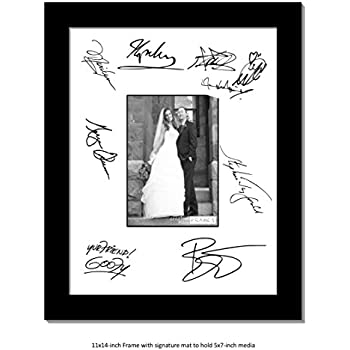 Amazon.com - CreativePF [5x7-11x14bk-w] Signature Frame - Photo ...