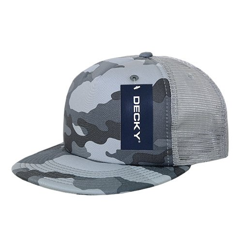 Flat Urban (DECKY Flat Bill Camo Foam Trucker, Urban Grey)