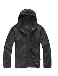 B.BANG Unisex Outdoor Windbreaker Light Weight UV Proof Hooded Skin Jacket