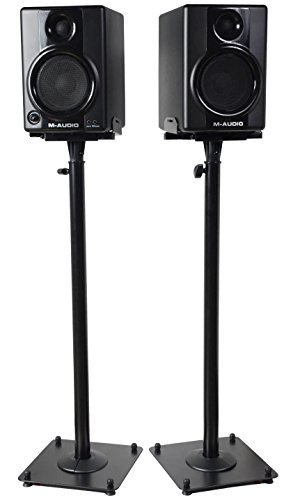 "VideoSecu 2 Heavy duty PA DJ Club Adjustable Height Satellite Speaker Stand Mount - Extends 26.5"" to 47"" (i.e. Bose, Harmon Kardon, Polk, JBL, KEF, Klipsch, Sony, Yamaha, Pioneer and others) 1B7"