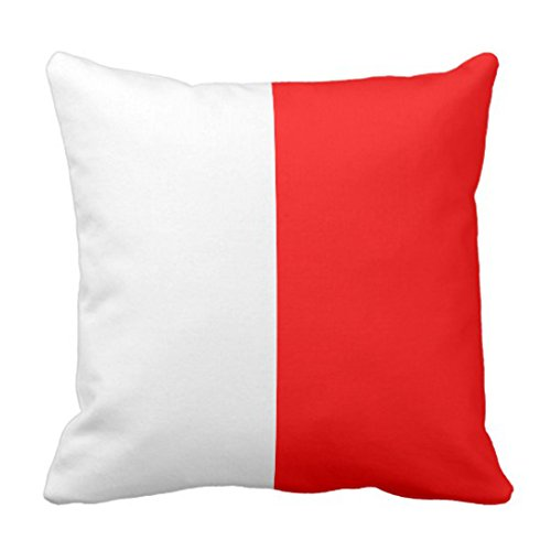 Emvency Throw Pillow Cover Nautical Flag Signal Letter H Decorative Pillow Case Home Decor Square 20 x 20 Inch Cushion Pillowcase - Nautical Code Flag Pillow