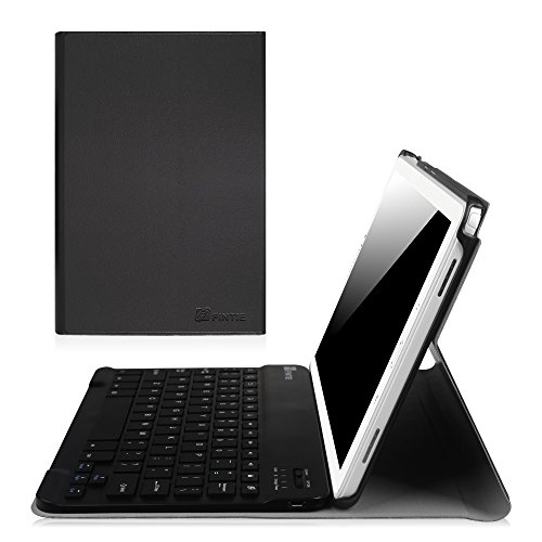 Fintie Samsung Galaxy Tab A 10.1 with S Pen Keyboard Case, Slim Shell Light Weight Stand Cover with Detachable Wireless Bluetooth Keyboard for Galaxy Tab A 10.1 with S Pen(SM-P580/P585), Black (Samsung 10 S Tablet Case)