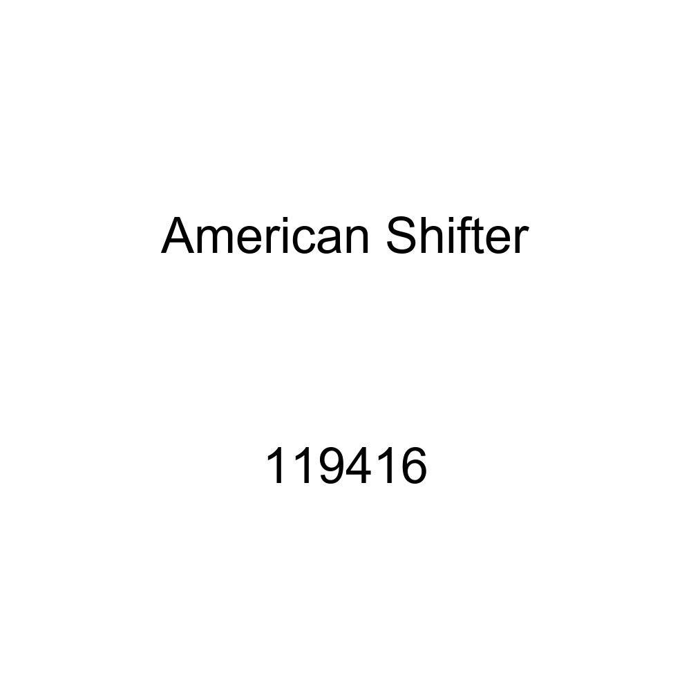 American Shifter 119416 Red Stripe Shift Knob with M16 x 1.5 Insert Black No U-Turn