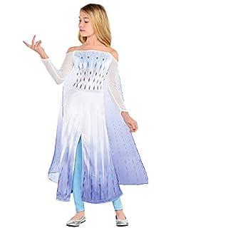 Party City Disney Frozen 2 Epilogue Elsa Halloween Costume for Kids, Medium, Includes Dress, Leggings, For Pretend Play
